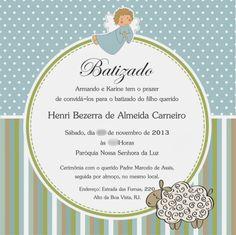 Convite Batizado Menino - Invitation Boy Baptism