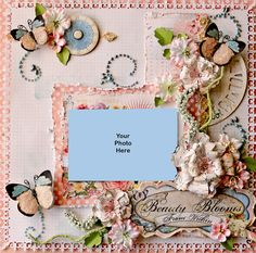 Beauty Blooms From Within Premade Scrapbook Page by reneabouquets, $25.00
