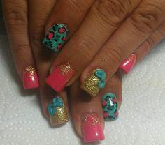 Acrylic nails by Mirna
