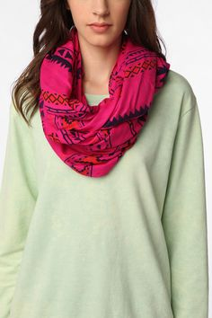 Staring at Stars Geo Print Eternity Scarf from Urban Outfitters. I freakin' love eternity scarves!