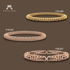 Get Amazing gold #bangles designs with a modern twist, Only on Papilior. #goldbangle #bangles #goldbangledesign #goldbangleprice #goldbangles