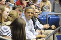 President Obama at the University of Dayton Basketball Arena.   Think that this photo could make a good summer writing prompt for the boys:  What would you ask President Obama if he sat next to you at a basketball game?
