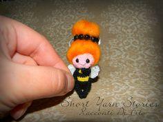 Amigurumi Crochet Bee Doll / Amigurumi miniature / Dollhouse Miniature / Chrochet Doll / Bee / Waldorf Doll / Collectible / Art Doll / OOAK by ShortYarnStories on Etsy