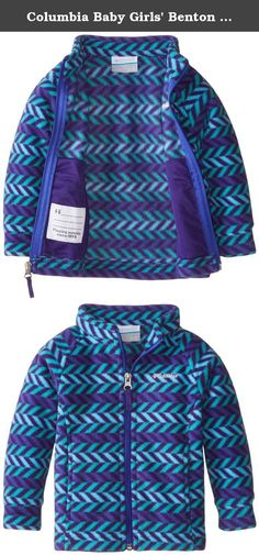 Columbia Baby Girls' Benton Springs II Fleece, Hyper Purple Chevron, 18-24 Months. An updated Columbia classic for little ones, this soft and cozy fleece offers instant insulation in a versatile, everyday style with a new, active slim cut and handy zippered pockets.