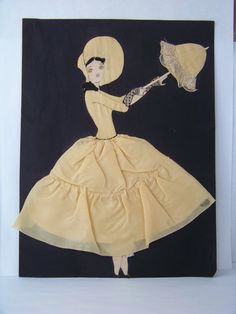 Vintage Ribbon Art Paper Doll 1930's Ribbon Doll by TraceyAnns, $27.00