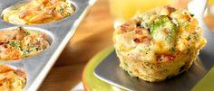 Mini Cheddar, Broccoli & Bacon Quiches
