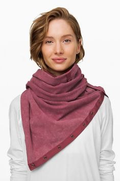 Vinyasa Scarf French Terry by Lululmon is designed with a couple twists, this versatile scarf turns into a warm wrap, cozy cardigan, or an endlessly-customizable infinity scarf. Warm Outfits, Winter Outfits, Lululemon Yoga, Wrap Cardigan, Yoga Fashion, Athletic Wear, Twists, French Terry, Infinity