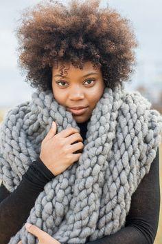 Grey Blanket Cowl by KnitsAndStonesCH on Etsy, $256.00