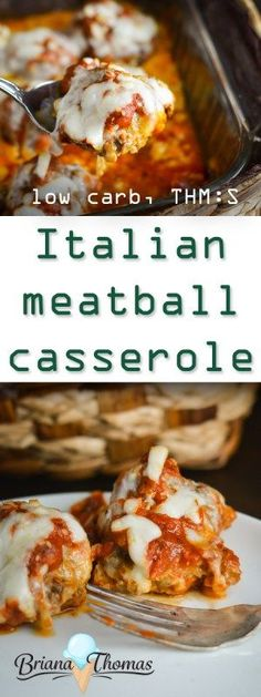 Italian Meatball Casserole - family friendly, no special ingredients required! THM:S, low carb, gluten/nut free