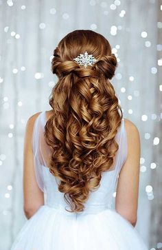 20 Hochzeitsfrisuren für langes Haar, Hochzeit Frisuren für lange Haare, Hochzeit Frisuren Wedding Hairstyles For Women, Quince Hairstyles, Pretty Hairstyles, Hairstyle Ideas, Perfect Hairstyle, Hairstyles For Graduation, Makeup Hairstyle, Easy Hairstyles, Elegant Hairstyles