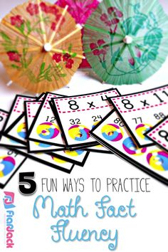 Here are five fun ways to practice math facts fluency with your kiddos. And the beach ball poke cards in the picture are FREE!