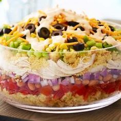 Southwestern Chicken & Cornbread Salad Recipe ½ cup red onion (diced red onion)½ cup cheddar cheese (shredded cheddar can ounces) whole kernel Baked Ranch Chicken, Chicken Bacon Ranch Casserole, Ranch Chicken Recipes, Chicken Recipes Video, Cornbread Salad Recipes, Pea Salad Recipes, Pita Recipes, Avocado Recipes, Paleo Recipes