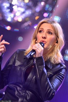 Ellie Goulding rocks leather playsuit on TOTP New Year's Day special Ellie Goulding Concert, Grammy Awards 2016, Global Citizen Festival, Jenifer Lawrence, Charlie Puth, Hereford, Her Music, Record Producer, Demi Lovato