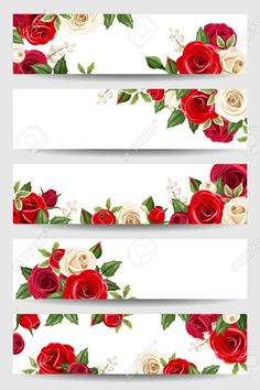 Paper Background Design, Banner Background Images, Flower Background Wallpaper, Banners Web, Fall Clip Art, Photo Frame Design, Red And White Roses, Scrap Material, Scrapbook Journal