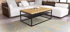 Duży stolik w stylu skandynawskim z półką Malmo - take me HOME