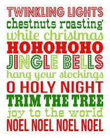 Christmas Printable - free!