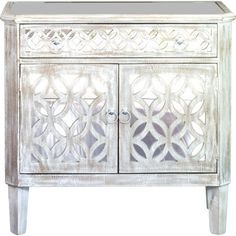 House of Hampton Stacy 2 Door Accent Cabinet Royal Furniture, Mirrored Furniture, Accent Furniture, Living Room Furniture, Home Furniture, Entry Furniture, Furniture Refinishing, Cabinet Furniture, Mirror Cabinets