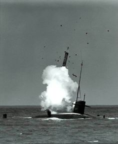 USS Henry Clay - 1st submarine to launch a Polaris A2 missile while on the surface.