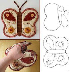 Butterfly oven mitt                                                                                                                                                                                 Mais