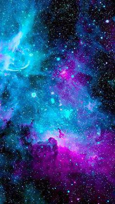 con la pintura fluorescente sobre tela negra pegada a la pared y con ayuda de lamparas ultravioletas podemos simular efecto de galaxias.