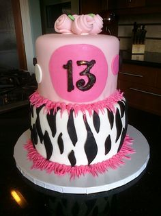 Happy 13th Birthday Cake