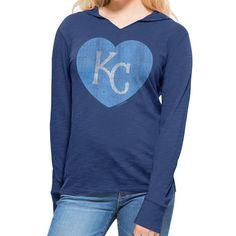 Kansas City Royals Women's Heart Primetime Hoody by '47 - MLB.com Shop