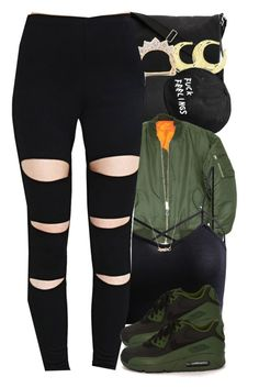 """10-30-15 those shoees tho ❤️"" by no-flex-zone ❤ liked on Polyvore featuring Yves Saint Laurent, NIKE and Marc by Marc Jacobs"