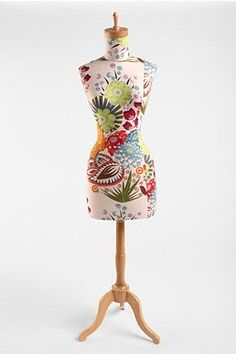 Floral Wood Base Dress Form #urbanoutfitters