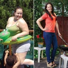 Weight loss before and after photos -- How she lost 12 dress sizes in 5 months.