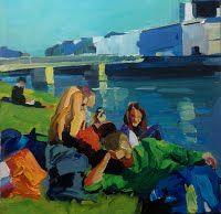 Birgit Schweiger LAZY SALZBURG II 2014 Oil - canvas 40 x 40 cm