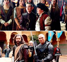 Richard, stand behind me. I will not. I will stand beside you. #galavant