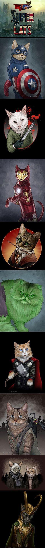 Super Cats-I like the Daryl Dixon one, but Loki isn't a super hero!