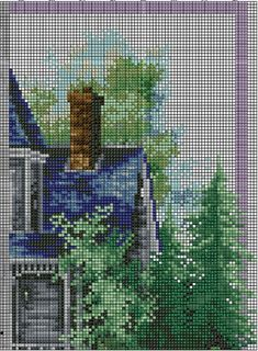 Summer comes gingerbread pattern funny cross stitch cottage Baby Cross Stitch Kits, Geek Cross Stitch, Cross Stitch House, Simple Cross Stitch, Modern Cross Stitch, Cross Stitch Charts, Cross Stitch Designs, Cross Stitch Patterns, Subversive Cross Stitches