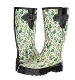 """""""Cacti"""" Style•Ladies Rain Boot•Ladies Whole Sizes 6 to 11•Round Toe Style•12"""" Height•Adjustable Buckle and Gusset•High Quality Rubber•Durable Rubber Outsole•Fully Lined Interior•Removable Insole Stay comfortable, warm and dry with these Blazin Roxx ladies round toe rain boots by M&F Western Products. These have various shaped cacti all over the boot for a trendy style. With an adjustable buckle and gusset you can get a perfect fit. These are also barn acid approved with prope..."""
