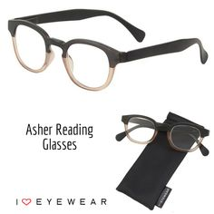 """Is the hubby looking for new readers? Our Asher Reading Glasses are one of our top-sellers! Order the """"no power"""" option to have them shipped with demo lenses, ready to fit with his prescription."""