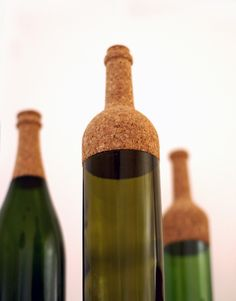The border line between materials was gently moved in this set of used wine bottles and anew function was created.
