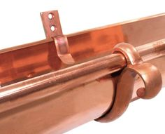 double curl copper gutter hanger