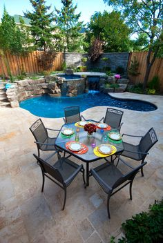 Having a small backyard doesn't mean you can't have a luxurious and comfortable outdoor space! #pooldesign #outdoorliving