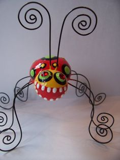 clay bug monsters but will use papier mache or plaster gauze. Wrap wire with twisteez wire