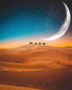 Beauty Of Morocco ( Beautiful Moon, Beautiful World, Beautiful Places, Beautiful Pictures, Desert Pictures, Nature Pictures, Moon Photography, Landscape Photography, Deserts Of The World