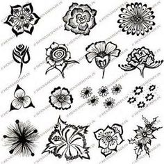 Simple Henna Tattoos Easy Flower Designs Tattoo
