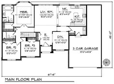 1810 sq ft European House Plan 73218 Level One