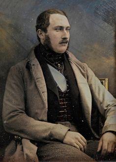 Hand-coloured daguerreotype of Prince Albert, 1848 by Kilburn.