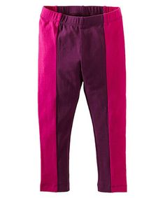 This Fuchsia & Maroon Color Block Leggings - Infant, & Girls is perfect! #zulilyfinds