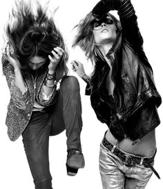 Rock it! | wannabe | rock n roll | fashion editorial | grunge | dance | movement | denim | leather