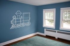 Train Room: All my grandson needs. Set up his Thomas stuff and he probably wouldn't even come out for meals...