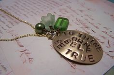 To Thine Own Self Be True Shakespeare necklace by EmilinaBallerina, $18.00