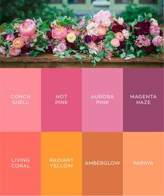 PANTONE 2019 color of the year: living coral - shimmering sunset color palette (pinks/purples/oranges/yellows) wedding inspiration for floral bouquets. Briar Barn Inn, an inn and restaurant in Rowley, Massachusetts. BriarBarnInn.com | Christian Pleva Photography