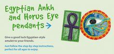 Egyptian Ankh and Horus Eye Pendants | Craft Ideas at Patticrafts