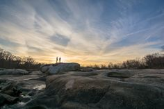 """""""Love on the Rocks"""" (along Richmond's James River) by Scott Adams (featured in the Richmond Times-Dispatch on October 10, 2015). Fun Fact: This is a 2015 Virginia Vistas Photo Contest Honorable Mention winner in our Rivers & Waterways Category. ENJOY!! #VirginiaVistas"""